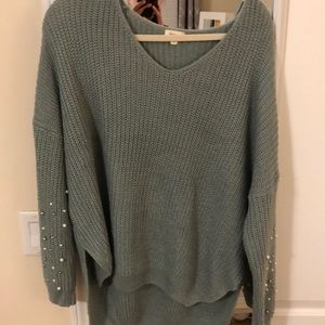 Pearl sleeved sweater